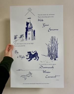 Winter Carnival printed poster
