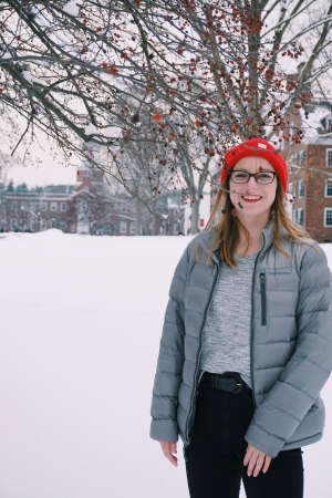 Isabel with Dartmouth snow