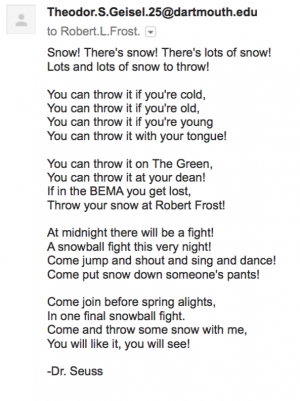 email snowball fight