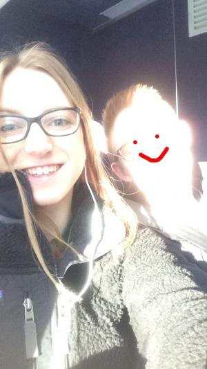 Selfie on Dartmouth Coach