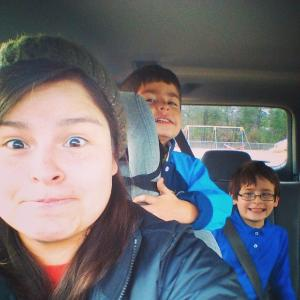 Angie and her brothers