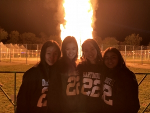 Homecoming bonfire roommates