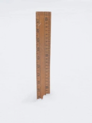 Ruler showing snow reached over a meter