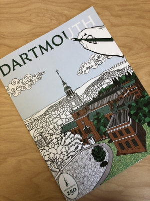 A coloring book that spotlights the beautiful places at Dartmouth!