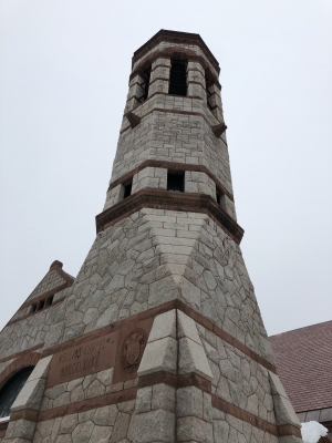 The famous tower of Rollins Chapel.