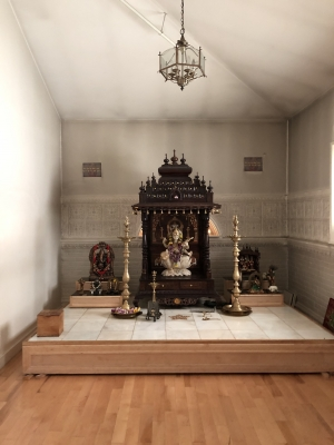 Pictured above: The inside of the Hindu Temple.