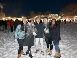 Me and my friends at the snowball fight!