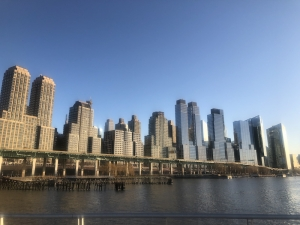 View of Manhattan from the pier