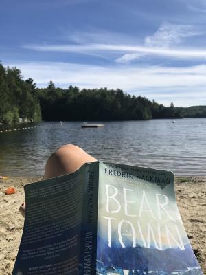 Beartown - book on beach