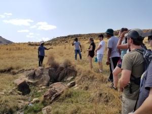 Ecofutures Interns on Hike