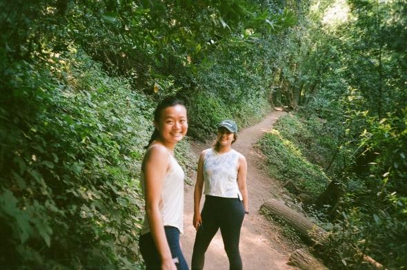 sydney wuu hiking with adri