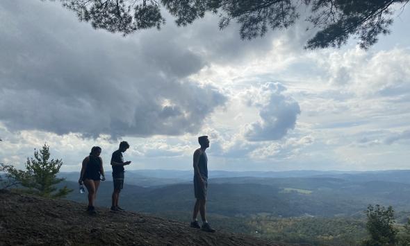 Pete '23, Azariah '23, Jess '23 on Wrights Mountain, VT