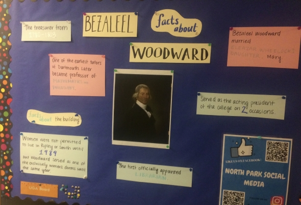 Bulletin board about Woodward