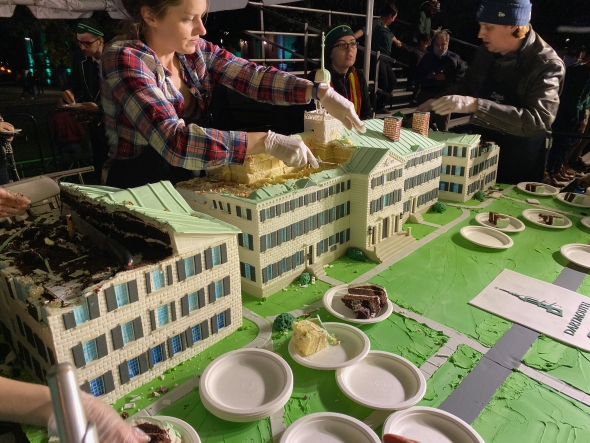 Dartmouth Hall cake