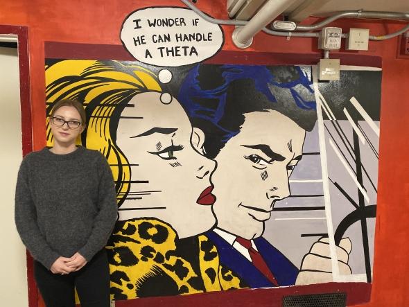 Theta mural