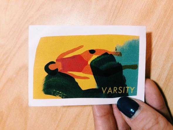 varsity sticker