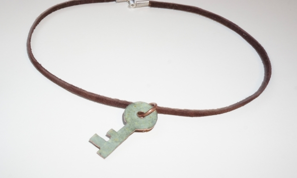 Pendant made from scrap Baker Tower copper