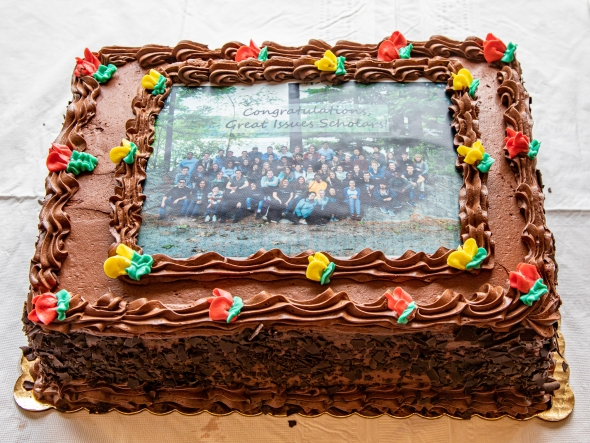GIS closing ceremony cake