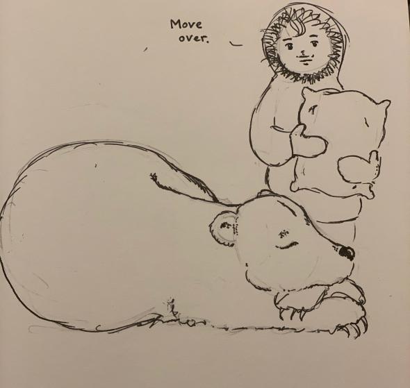 Cartoon - bear in winter