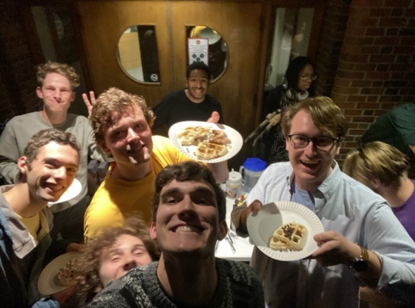 Some of my Frat Brothers Came for some Waffles!