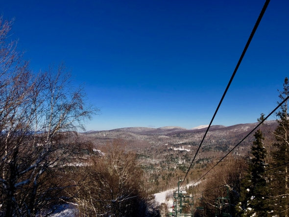 View from lift