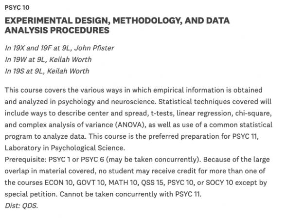 screenshot of psych 10 description