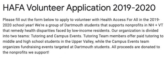 HAFA health access for all application