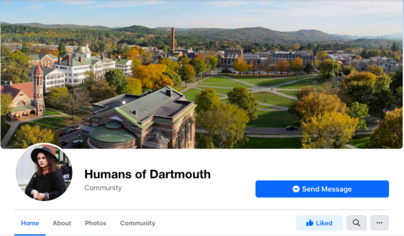 humans of dartmouth Facebook page