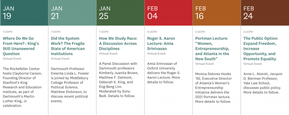 Calendar of events held by Rockefeller Center of Public Policy
