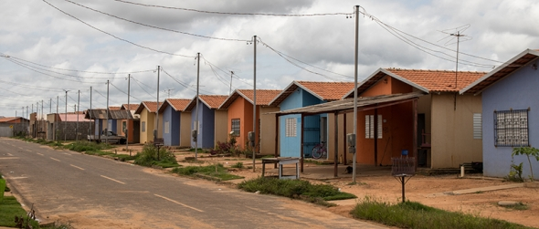 A central road in the Collective Urban Resettlement